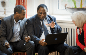 left: ADPC director Awil Mohamoud during the German African Campus in Berlin. (photo by B. Prikzuleit)