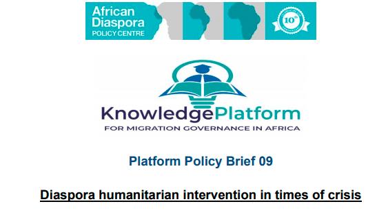 Diaspora humanitarian intervention in times of crisis