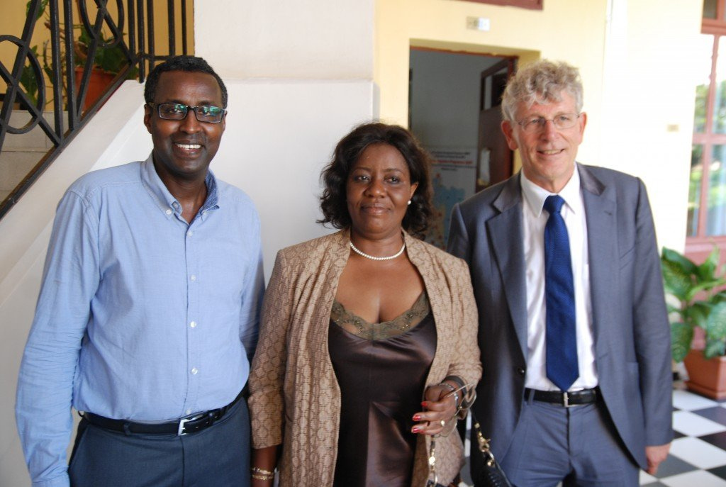 ADPC director Dr.Awil Mohamoud and board members Elizabeth Adjei and Prof.Dr Gerd Junne